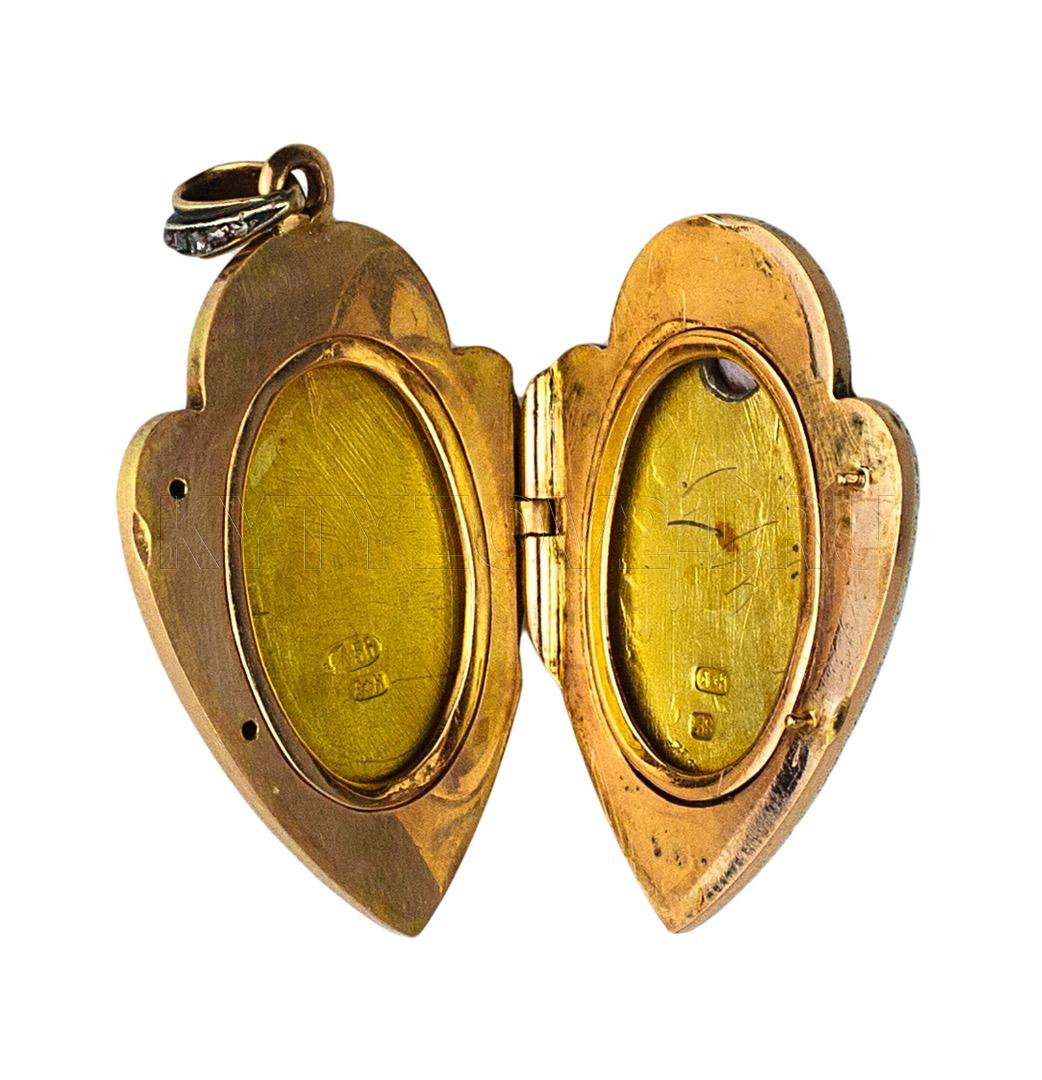 Медальон, Россия, Санкт-Петербург. Фирма К. Фаберже, Мастер А ... 97541f03060